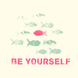 Be Yourself Motivation Vector illustration Royalty Free Stock Image
