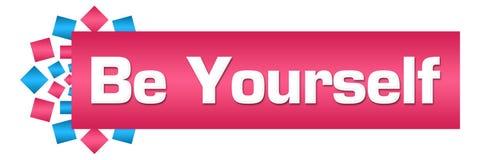 Be Yourself Pink Blue Circular Bar Stock Images