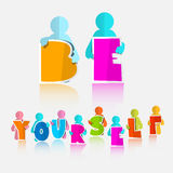Be Yourself Vector Slogan - Title Royalty Free Stock Images