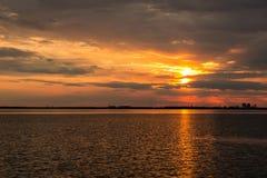 Beabutiful sunset ower sea Stock Photos