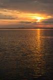 Beabutiful sunset ower sea Royalty Free Stock Image