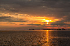 Beabutiful sunset ower sea Royalty Free Stock Photo