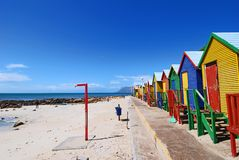 Beacch Huts. Colourful beach huts at St James Beach, Cape Town Royalty Free Stock Photo