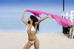 beacg bikini λευκό Στοκ Εικόνες