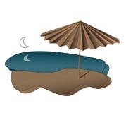 Beach. Umbrella on the Beach illuatration Stock Photos