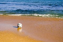 Beach. Ball on a beach.Sea Stock Photo