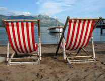 On a beach. Summer day on a beach royalty free stock images