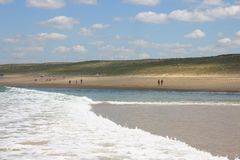 Beach. From atlantic ocean stock photos