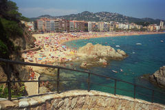 Beach. Resort in Spain. The sity of Loret de Mar Royalty Free Stock Photo