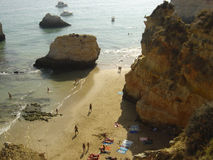 Beach. Between rocks in Algarve, Portugal Royalty Free Stock Image