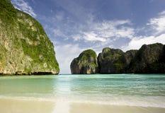 The Beach. The infamous hidden beach at Maya Bay on Ko Phi Phi Leh in Thailand Royalty Free Stock Image