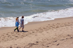 Beach. People at the beach on vacation royalty free stock image