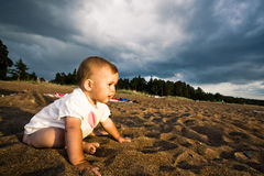 On a beach Royalty Free Stock Photo