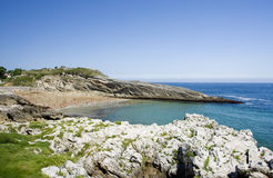 Beach. Sunny beach in llanes north of spain Stock Photography