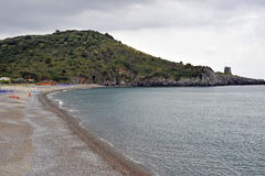 Beach. Promontory with free Lentiscelle beach, Italy Stock Photo