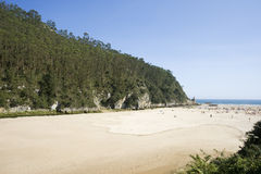 Beach. Sunny sandy beach in north of spain Royalty Free Stock Photo