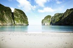 The beach. At maya bay phi phi island Royalty Free Stock Image