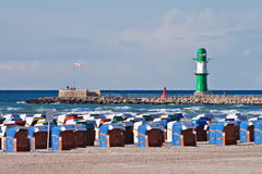 On the Beach. In Warnemuende (Baltic Sea stock image