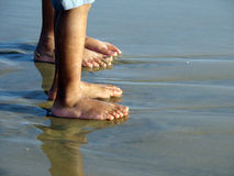 Beach. Kids legs on a Beach Royalty Free Stock Photo