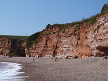Beach. Beautiful beach with stones and cliffs in England royalty free stock images