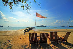 The beach. Koh Mak  Beach at Thailand Stock Photography