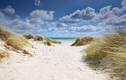 Beach. One windy day with clouds drift Stock Image