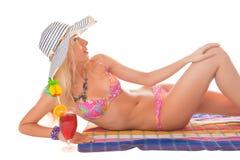 On a beach Stock Photo