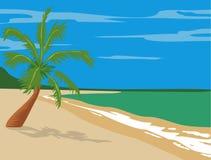 Beach. Vector illustration for a beach landscape stock illustration