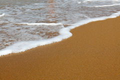 Beach. Sand beach with water. background Stock Photography