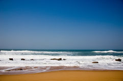 Beach. Nice Beach with small rocks, indian ocean, south africa Royalty Free Stock Photo
