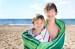 At the beach Stock Image