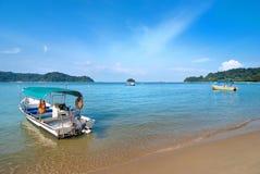 Beach. Tropical beach view from Pangkor island Malaysia Royalty Free Stock Photo