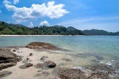 Beach. Tropical beach view from Pangkor island Malaysia Stock Photo