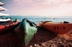 Beach. Croatia / Brac / Bol / Adriatic Sea / Dalmatia Stock Photo