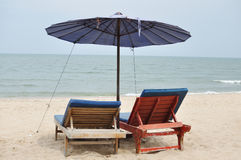 On the beach. This is the sea and beach in Thailand stock photography