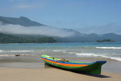 Beach. Nice beach in ilhabela brazil ,(castelhanos royalty free stock images