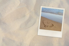 Beach. Summer beach photo on sand background Stock Images