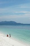 Beach. Sand, and blue sky Stock Photography