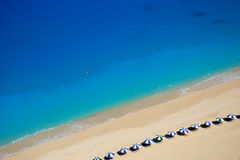The beach. Image of egremni beach and blue waters of greek island of Lefkada Stock Images