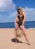 Beach. Nice girl on the beach Stock Photo