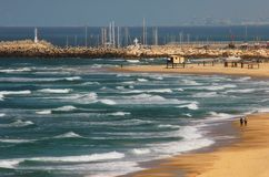 The Beach. Picture taken in Ashqelon, Israel Royalty Free Stock Images