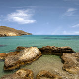 Beach. Rocky beach in the island of Crete Stock Images
