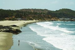 Beach. Scenery-sand coastlines and Indian ocean waves Royalty Free Stock Photo