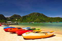 Beach. Beautiful beach in phi phis island , Phuket, Thailand Stock Images