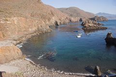 Beach. Small beach in the cost of Baja California, Mexico royalty free stock photography