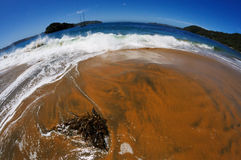 Beach. View with a fish-eye on a beach Stock Image
