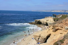 Beach. View of the La Jolla, California shoreline Royalty Free Stock Photo