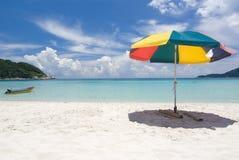 Beach. Photo of beach with umbrella stock images