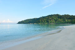 Beach. Beautiful beach in pangkor island Malaysia Royalty Free Stock Photography
