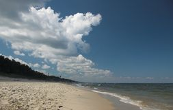 On a beach. Beach in Krynica Morska (Poland Stock Image
